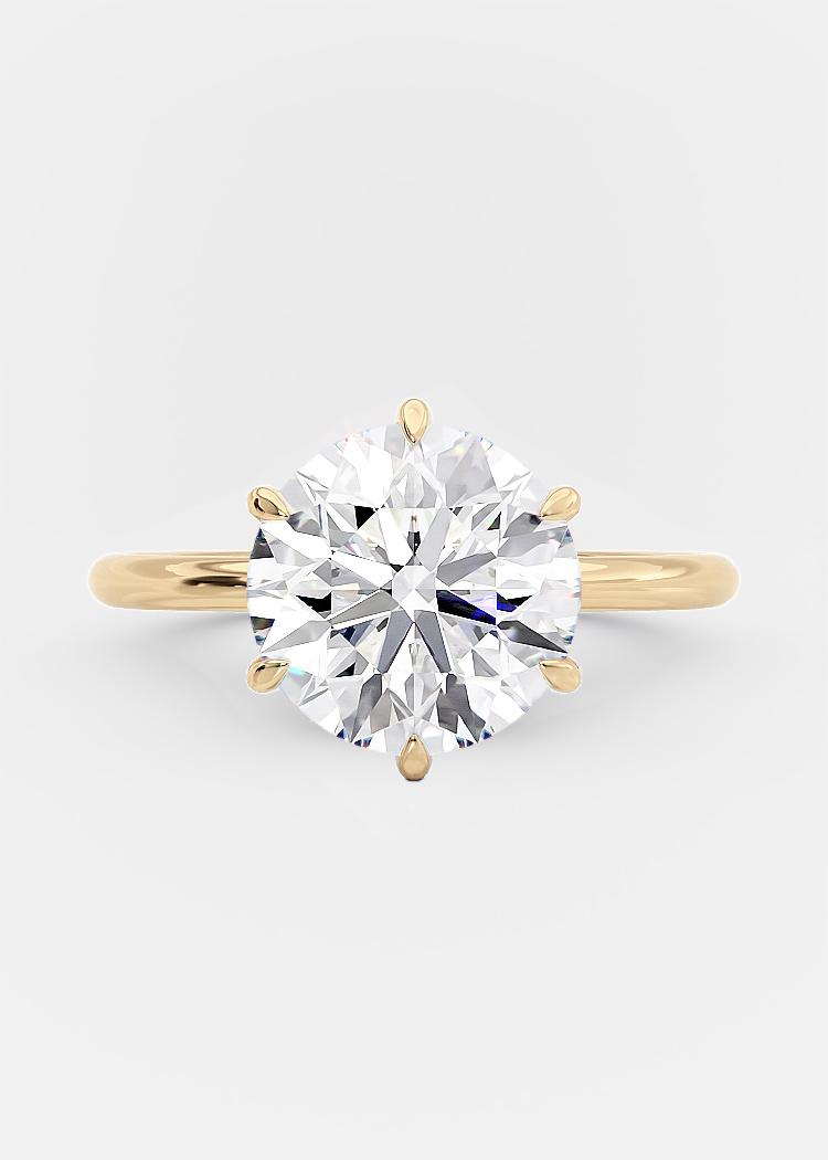 3 carat round brilliant diamond