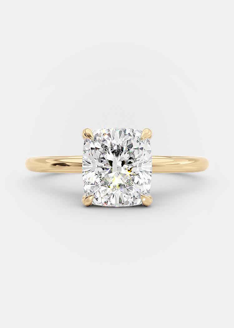 2 carat elongated cushion cut diamond