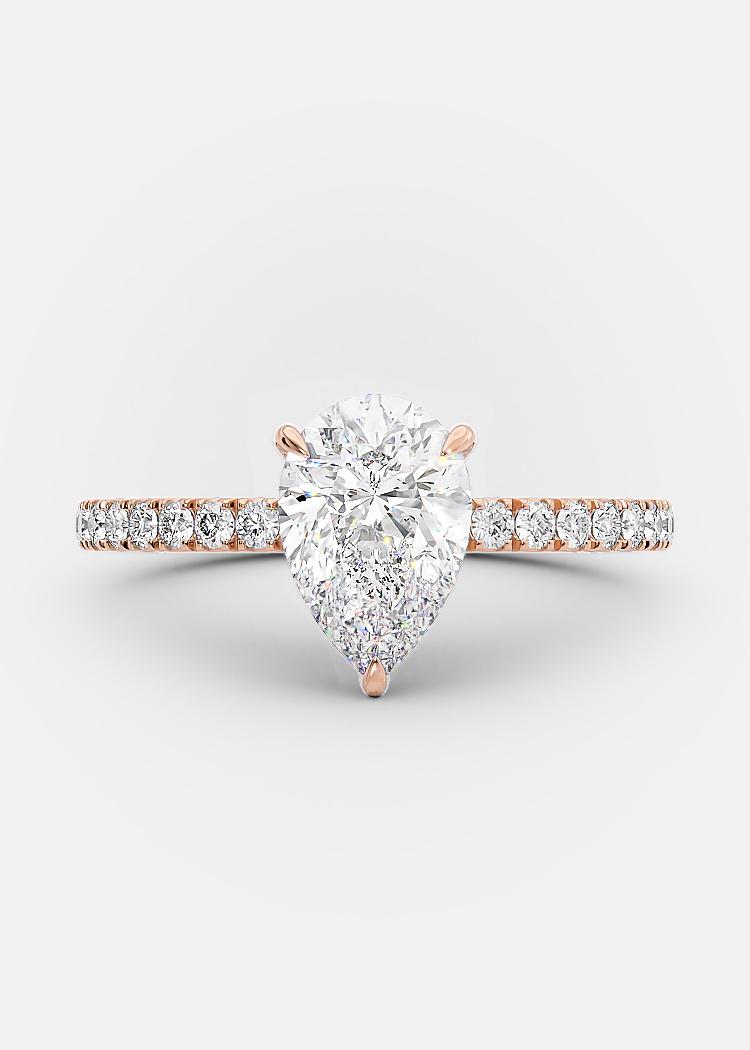1 carat pear shaped diamond