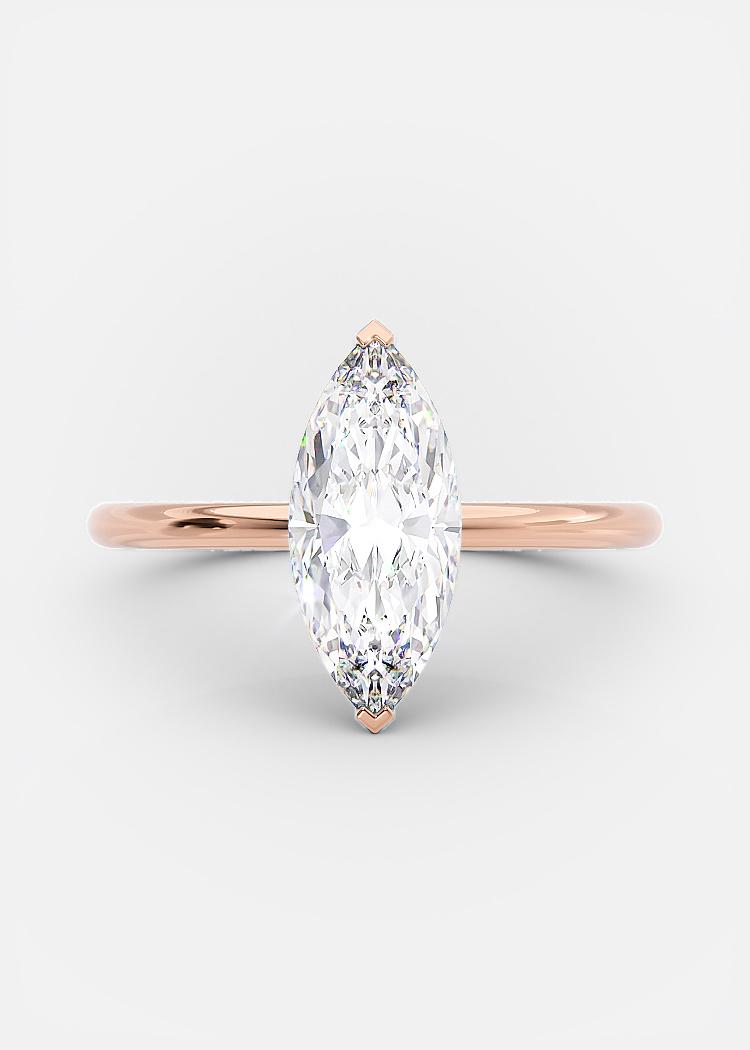 1.25 carat marquise cut diamond
