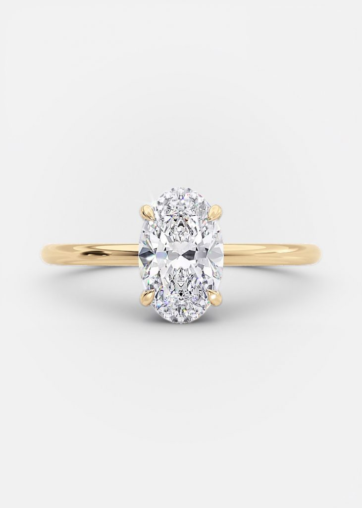 1 carat solitaire oval