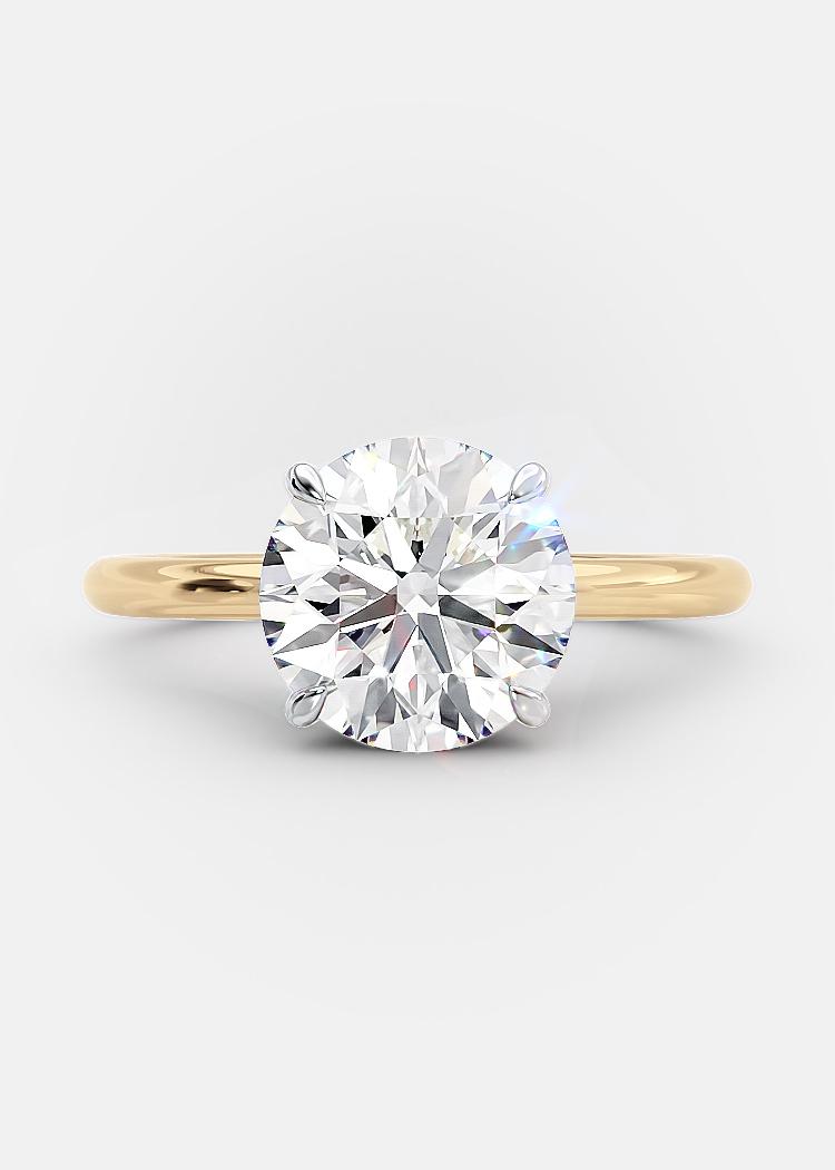 2.45 carat round brilliant diamond