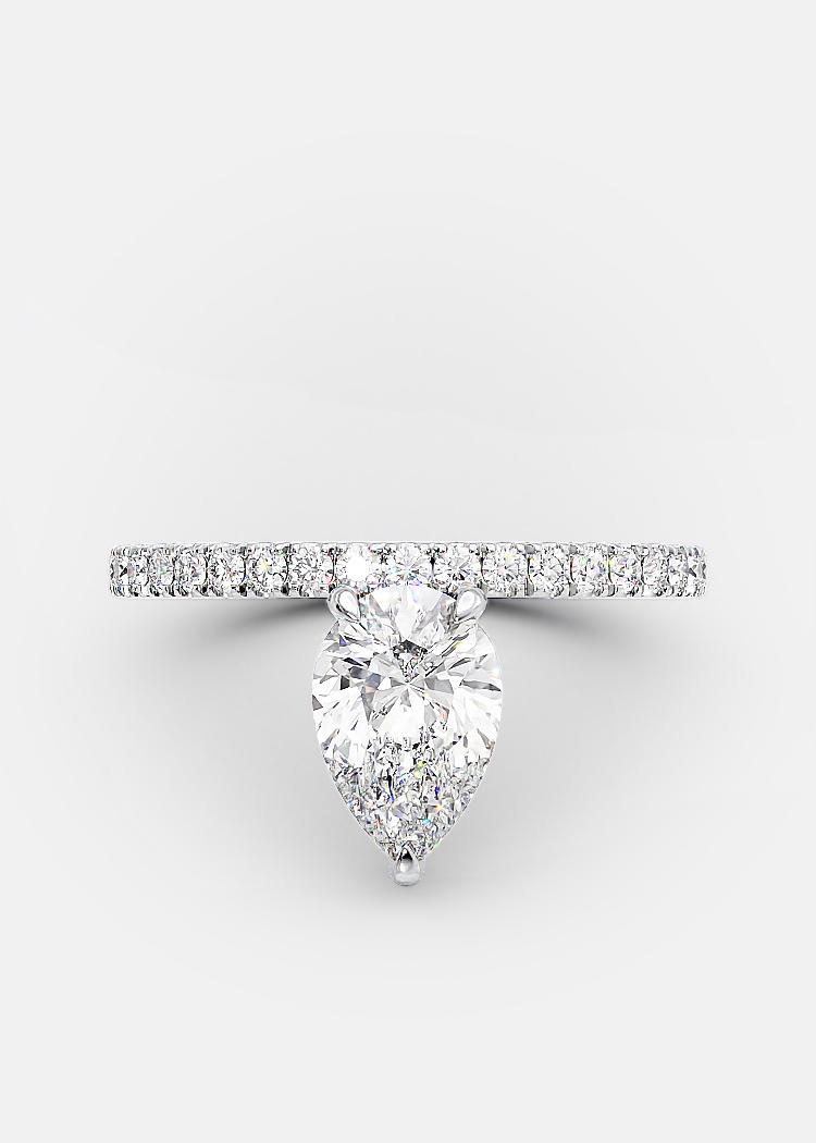 1.03 carat pear shaped diamond