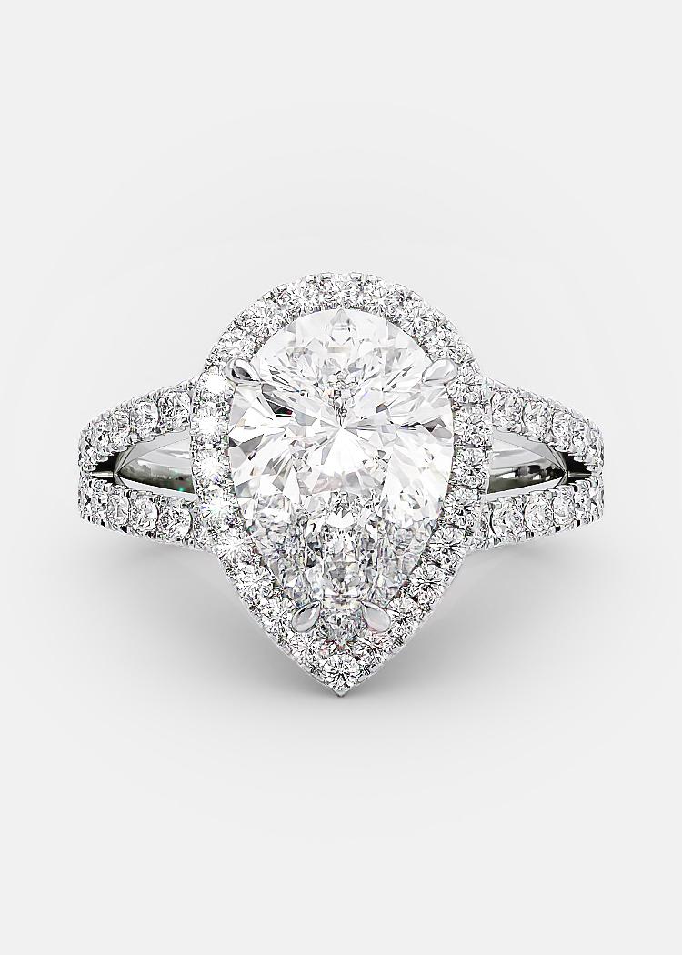 2 carat pear shaped diamond