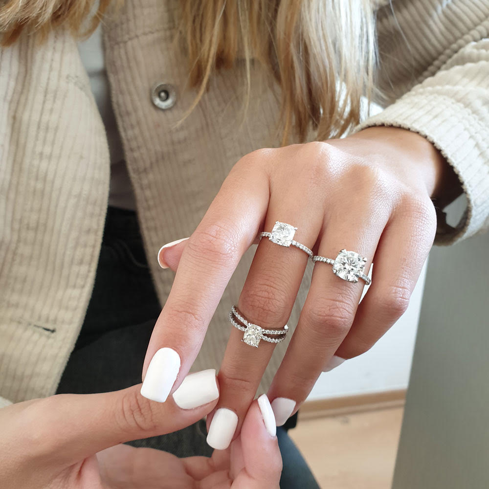 3 engagement rings